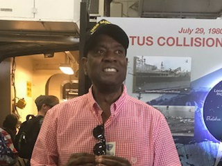 Founder Mark George Returns To The USS Midway Where He Once Served